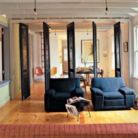 ways  decorate  shutters living room divider