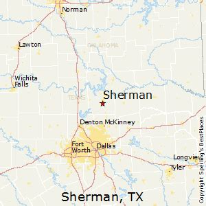 map of sherman best places to live in sherman
