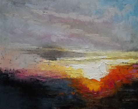 abstract landscape paintings carol schiff daily painting studio sunset paintings daily painting small paintings