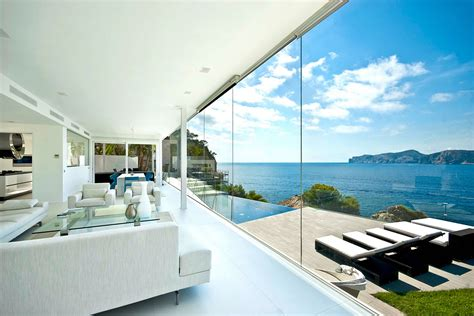 view interior of homes mallorca holiday home colored by sea view