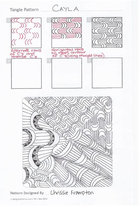 zentangle pattern punzel online instructions for drawing chrissie frton s