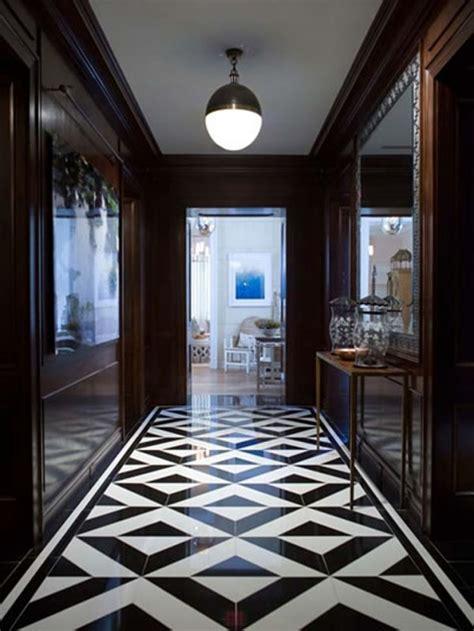 classy  elegant black white floors