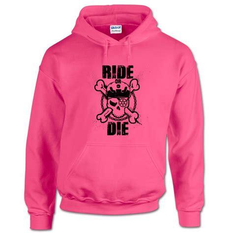 Hoodie Bmx 1 ride or die mtb skull bones mountain bike trails bmx motocross mens hoodie ebay