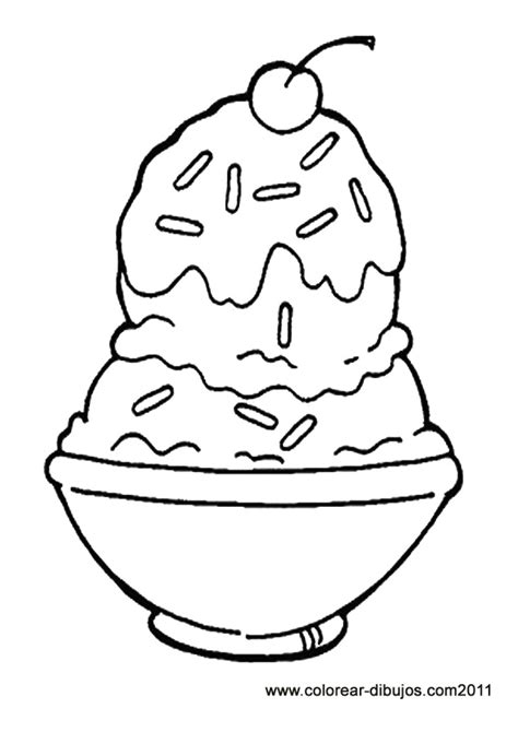 coloring page ice cream sundae free ice cream sundae coloring pages