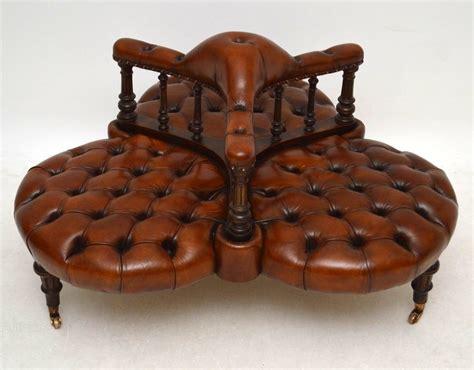 Leather Antique Sofa by Antique Leather Walnut Conversation Sofa Antiques Atlas