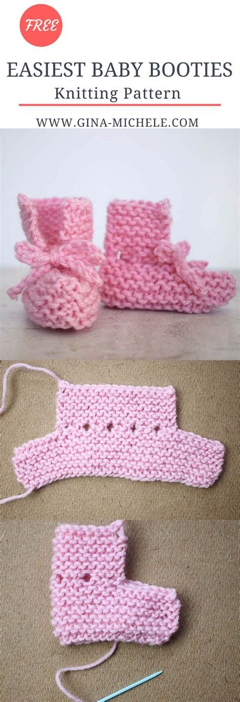 easy knit booties pattern easy seriously baby booties knitting pattern