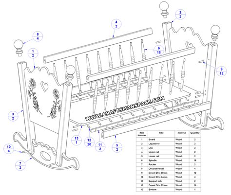 Baby Crib Plans Free by Pdf Diy Baby Cradle Plans Pdf Plans To Build