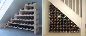 Under stair wine rack modern homes interior design and decorating