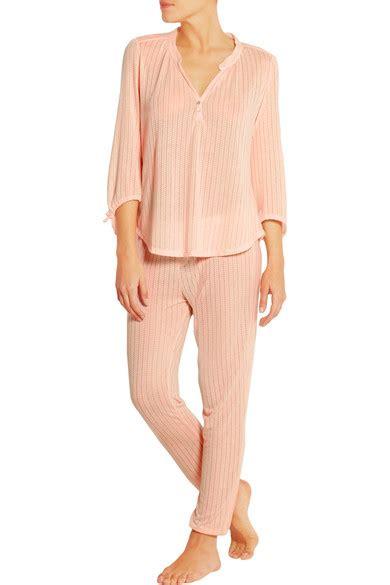 designer shop eberjey at net a porter net eberjey baxter pointelle jersey pajama top net a