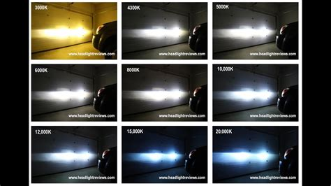 hid lights colors hid kit color comparison footage 3000k vs 6000k vs