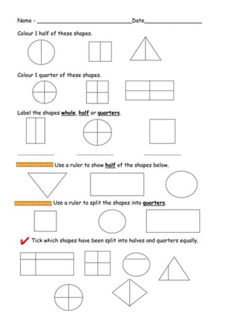 printable half and quarter worksheets number names worksheets 187 quarter worksheets free