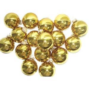 club pack of 36 shiny gold glass ball christmas ornaments