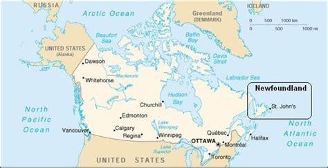 toronto on a world map newfoundland in een notendop
