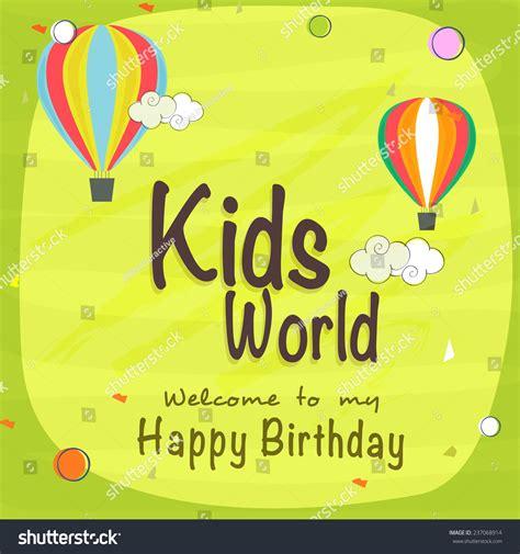 happy birthday beautiful design kids happy birthday celebration invitation card stock