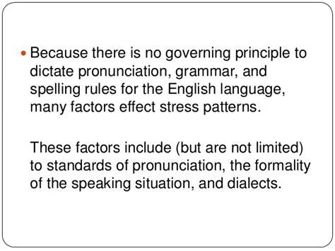 stress pattern english language 10 stress syllable stress