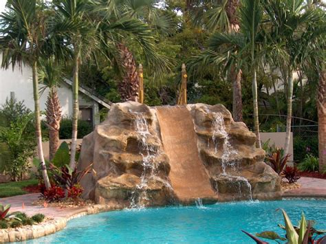 rock waterfalls for pools artificial rock waterfalls for pools backyard design ideas