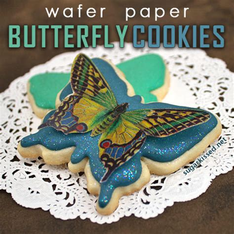 butterfly cookies butterfly cakes wafer paper tutorial wafer paper butterfly cookies tip junkie