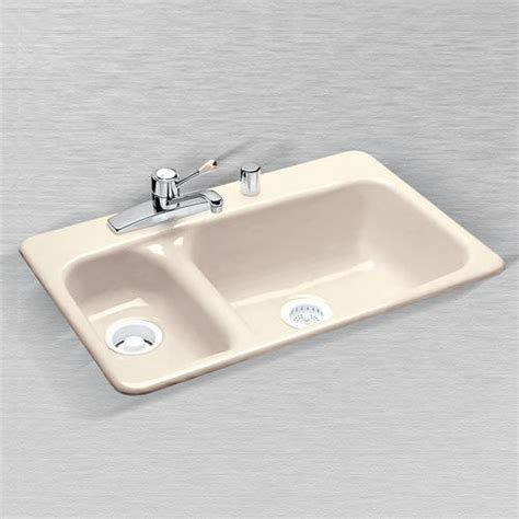ceco kitchen sinks ceco laguna 777 33 quot x 22 quot x 9 quot cast iron offset 70 30