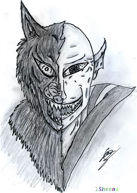 half wolf half half half by lsheena on deviantart