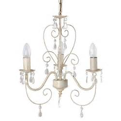 Vintage Style Chandeliers Ornate Vintage Style Shabby Chic 3 Way Ceiling Light Chandelier With Beautiful Acrylic Jewels