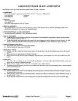 Garage Storage Lease Agreement Form Free Rental Lease Agreement Rental Agreement Forms Ez