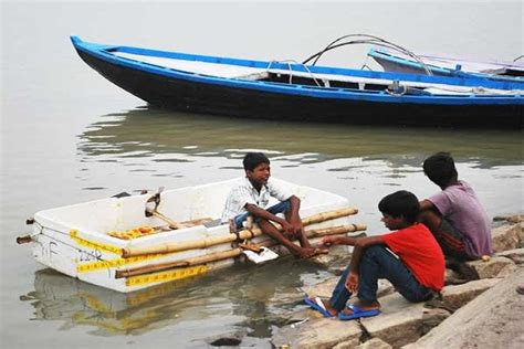 how to make a boat with waste material 9 year old boy made a boat from waste material