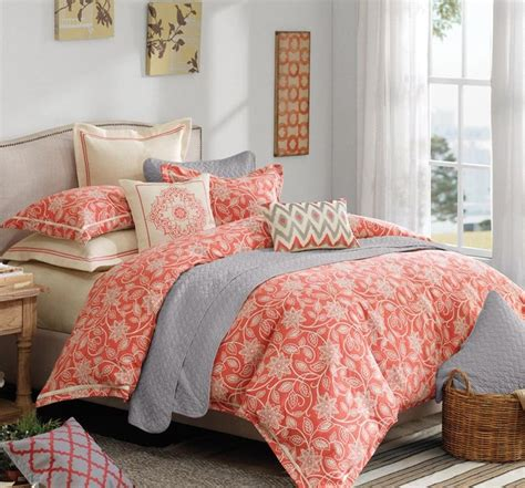 coral and gray bedding best 25 grey comforter sets queen ideas on pinterest