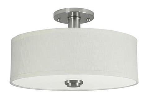 menards flush mount ceiling lights patriot lighting 174 15 quot brushed nickel indoor semi flush