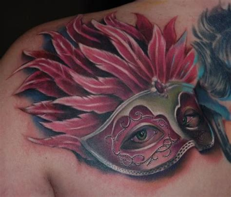 mardi gras tattoo mardi gras mask by kyle cotterman cat ink