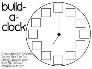 Make A Clock Template by Build A Clock Printable Zeit Uhr Clock