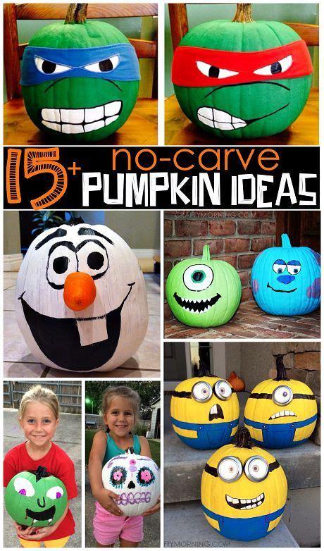 Clever Pumpkin clever no carve painted pumpkin ideas for kids pumpkin