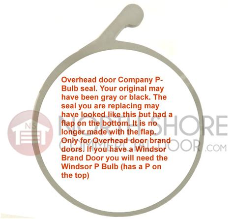 overhead door p bulb garage door bottom weather seal