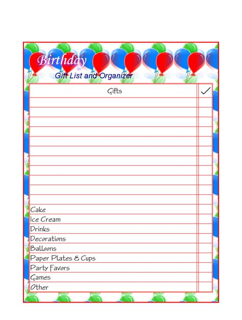 birthday gift list template best photos of birthday wish list printable free
