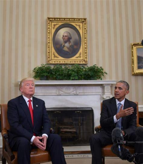 donald trump white house donald trump and president obama white house meeting photos heavy com