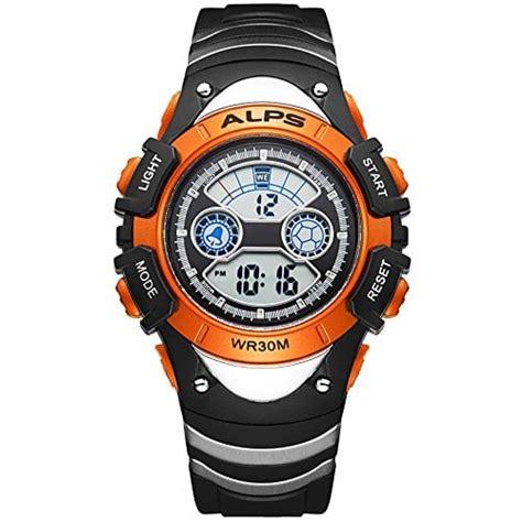 montre enfant montre fille gar 231 on montre digitale sport etanche pour 6 ans 224 12 ans orange