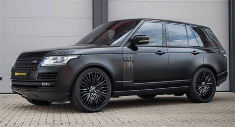 all black range rover gloss and satin black range rover gains carbon styling mods