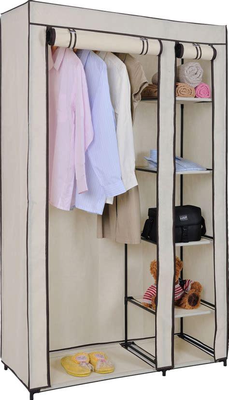 Sell Wardrobe by Canvas Wardrobe Rail Clothes Storage Cupboard Ebay