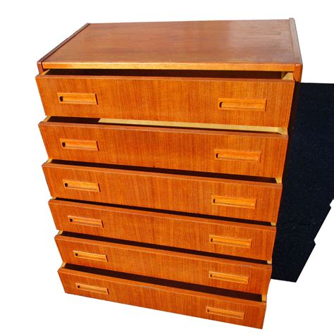 six drawer chest vintage teak danish six drawer chest dresser mr14759