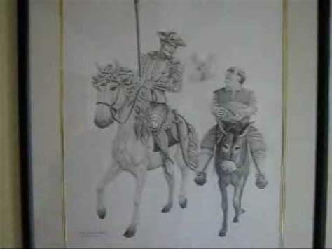 imagenes de don quijote a lapiz don quijote al l 224 piz carb 242 n wmv youtube
