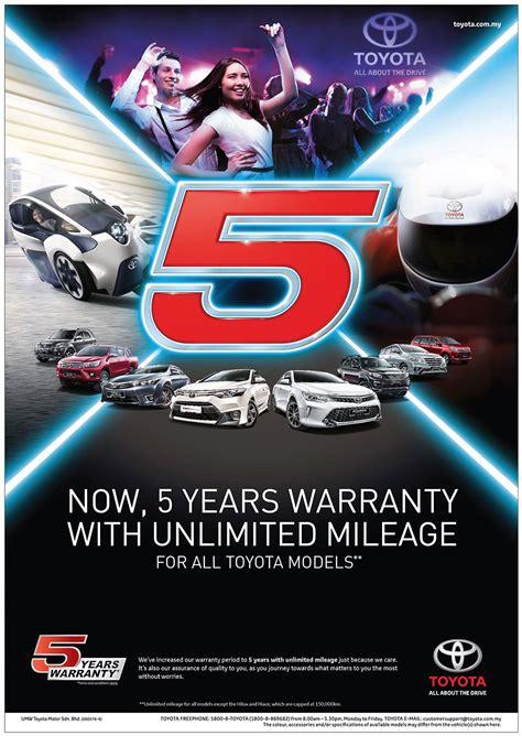 Toyota Warranty Umw Toyota Motor Extends Warranty Coverage To 5 Years