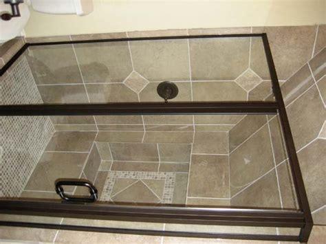 Rubbed Bronze Shower Doors by Rockwall Glass