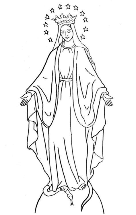 Dibujos De La V 237 Rgen De La Medalla Milagrosa Para Colorear Imagen De La Virgen De Guadalupe Para Colorear