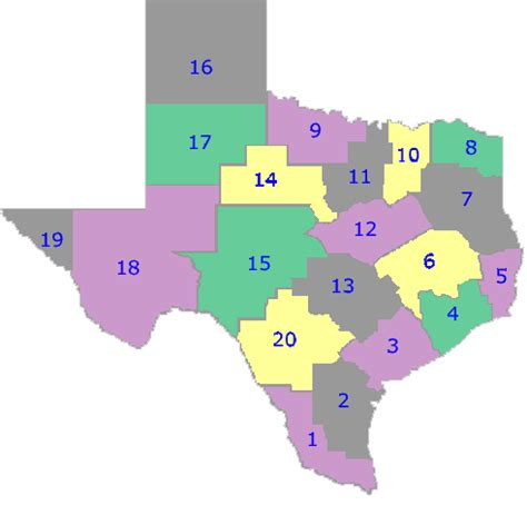 texas school district map by region taea visual arts scholastic event regional locator