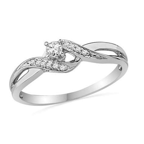 1 8 ct t w bypass promise ring in 10k white gold
