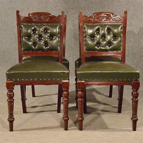 Antique Upholstered Dining Chairs Antique Leather Upholstered Dining Chairs Quality Antiques Atlas