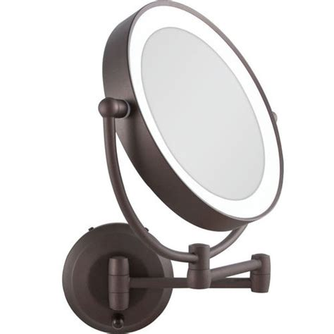 where can i find a lighted makeup mirror led lighted cordless sided wall mount makeup