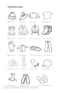 5 best images of clothes printable worksheets spanish