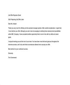 Rejection Letter Etiquette 8 Rejection Email Exles Sles