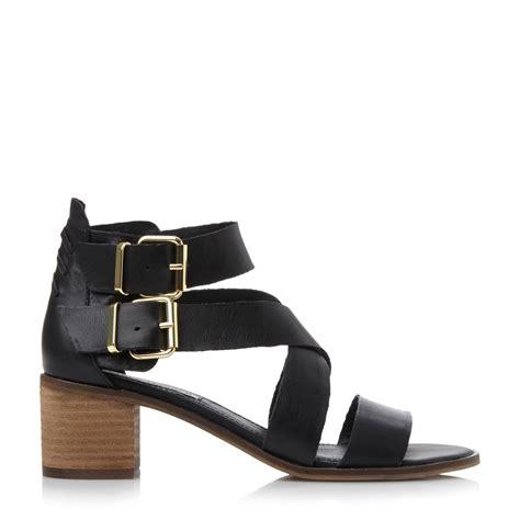 steve madden sandal heels steve madden rosana sm strappy block heel sandal in black