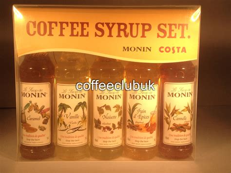 costa coffee monin syrup set coffee syrup great christmas